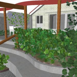 3D tuinontwerp stadstuin stolwijk